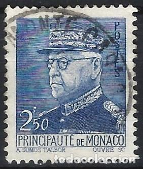 MÓNACO 1941-46 - PRÍNCIPE LUIS II, 2,50 FR. - USADO (Sellos - Extranjero - Europa - Mónaco)
