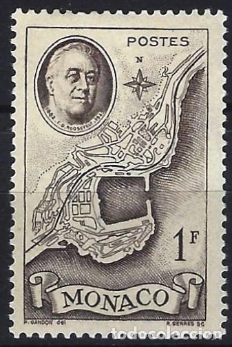 MÓNACO 1946 - 1º ANIVERSARIO DE LA MUERTE DE FRANKLIN D. ROOSEVELT - MH* (Sellos - Extranjero - Europa - Mónaco)