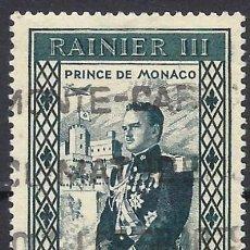 Sellos: MÓNACO 1950 - ADHESIÓN DEL PRÍNCIPE RAINIERO III - USADO. Lote 223229062