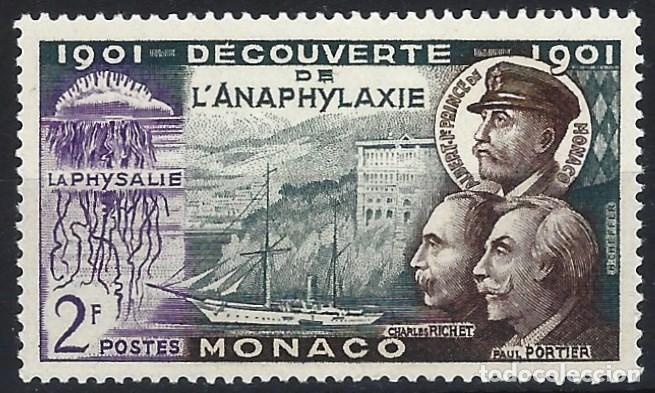 MÓNACO 1953 - 50º ANIVERSARIO DEL DESCUBRIMIENTO DE LA ANAFILAXIA - MNH** (Sellos - Extranjero - Europa - Mónaco)