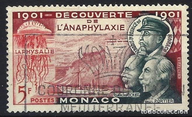 MÓNACO 1953 - 50º ANIVERSARIO DEL DESCUBRIMIENTO DE LA ANAFILAXIA - USADO (Sellos - Extranjero - Europa - Mónaco)
