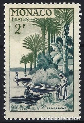MÓNACO 1955 - AÉREO - 80º ANIV. DEL NACIMIENTO DE ALBERT SCHEITZER - MNH** (Sellos - Extranjero - Europa - Mónaco)
