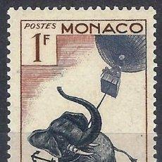 Sellos: MÓNACO 1955 - 50º ANIV. DE LA MUERTE DE JULIO VERNE, 5 SEMANAS EN GLOBO - MNH**. Lote 223263433