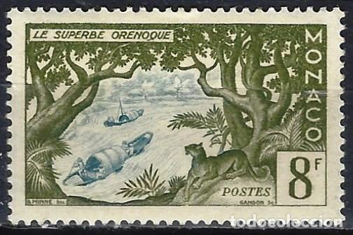 MÓNACO 1955 - 50º ANIV. DE LA MUERTE DE JULIO VERNE, EL MAGNÍFICO ORENOQUE - MH* (Sellos - Extranjero - Europa - Mónaco)
