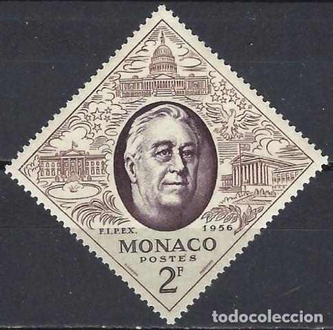 """MÓNACO 1956 - EXPO. INTERNACIONAL DE SELLOS """"FIPEX"""" DE NUEVA YORK, FRANKLIN D. ROOSEVELT - MNH** (Sellos - Extranjero - Europa - Mónaco)"""