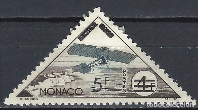 MÓNACO 1956 - TRANSPORTE, SELLO DE FRANQUEO, BORRADO TAXA Y SOBRECARGADO - MH* (Sellos - Extranjero - Europa - Mónaco)