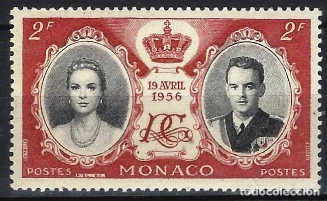 MÓNACO 1956 - BODA DEL PRÍNCIPE RAINIERO Y GRACE KELLY - MH* (Sellos - Extranjero - Europa - Mónaco)