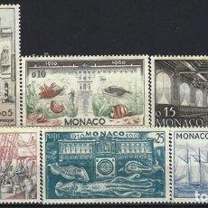 Selos: MÓNACO 1960 - 50º ANIVERSARIO DEL MUSEO OCEANOGRÁFICO, S.COMPLETA - MNH**. Lote 223273785