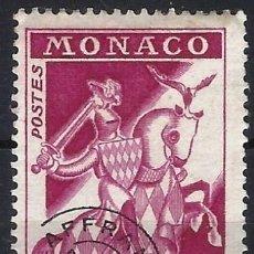 Sellos: MÓNACO 1960 - CABALLEROS, NUEVA MONEDA, PRECANCELADO - MH*. Lote 223312925
