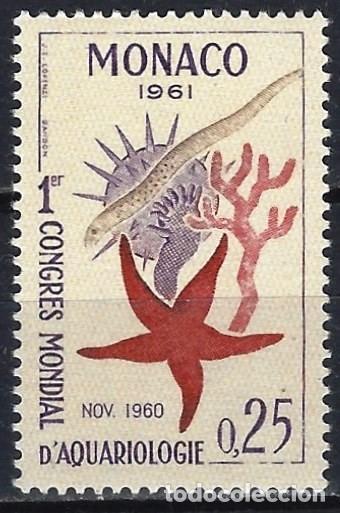 MÓNACO 1961 - CONGRESO MUNDIAL DE ACUARIOLOGÍA - MH* (Sellos - Extranjero - Europa - Mónaco)