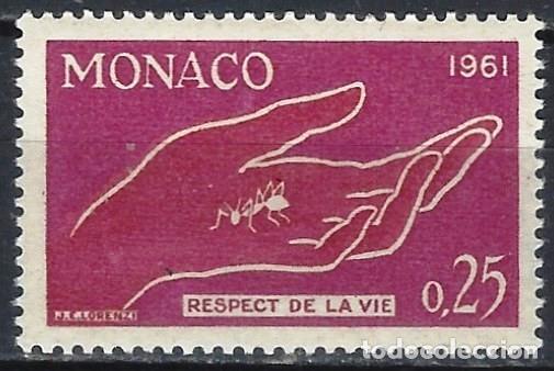 MÓNACO 1961 - PRESERVACIÓN DE LA NATURALEZA - MH* (Sellos - Extranjero - Europa - Mónaco)