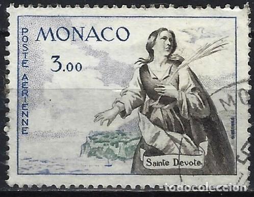 MÓNACO 1961 - AÉREO - SAN DEVOTO - USADO (Sellos - Extranjero - Europa - Mónaco)