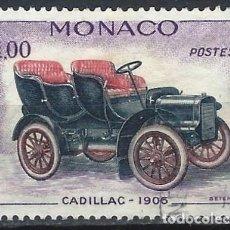 Sellos: MÓNACO 1961 - COCHES ANTIGUOS, CADILLAC 1906 - USADO. Lote 223314538
