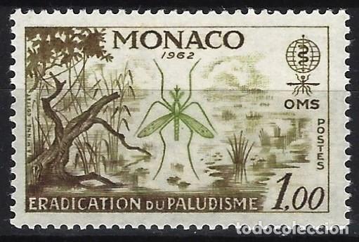 MÓNACO 1962 - ERRADICACIÓN DE LA MALARIA - MH* (Sellos - Extranjero - Europa - Mónaco)