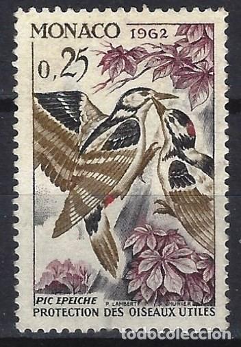 MÓNACO 1962 - AVES, DENDROCOPOS MAYOR - MINT SIN GOMA (Sellos - Extranjero - Europa - Mónaco)