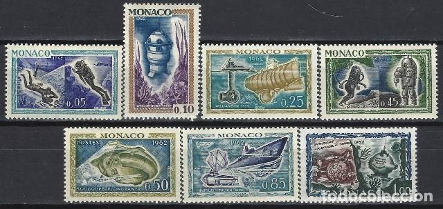 MÓNACO 1962 - EXPLORACIÓN SUBMARINA, S.COMPLETA - MH* (Sellos - Extranjero - Europa - Mónaco)