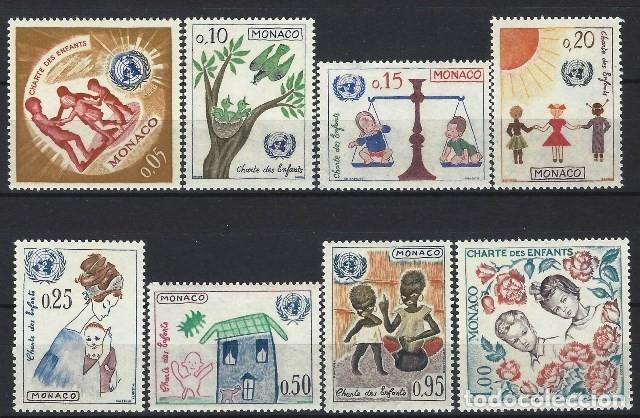 MÓNACO 1963 - CARTA DE LA ONU PARA LA INFANCIA, S.COMPLETA - MH* (Sellos - Extranjero - Europa - Mónaco)