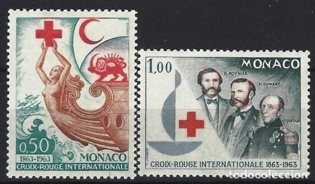 MÓNACO 1963 - CENTENARIO DE LA CRUZ ROJA INTERNACIONAL, S.COMPLETA - MH* (Sellos - Extranjero - Europa - Mónaco)