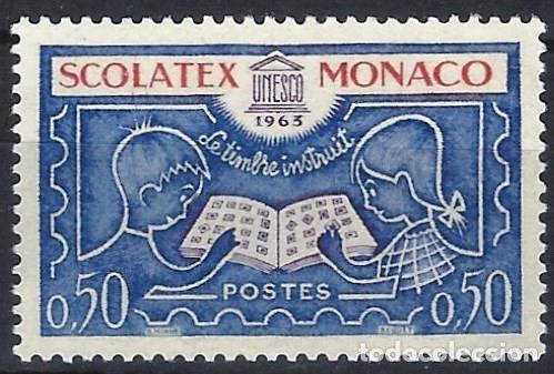 """MÓNACO 1963 - EXPO. INTERNACIONAL DE SELLOS """"SCOLATEX"""" - MNH** (Sellos - Extranjero - Europa - Mónaco)"""