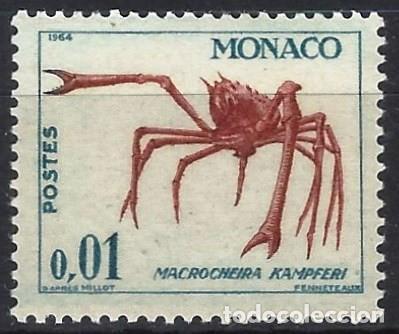 MÓNACO 1964 - VIDA MARINA Y PLANTAS - MNH** (Sellos - Extranjero - Europa - Mónaco)