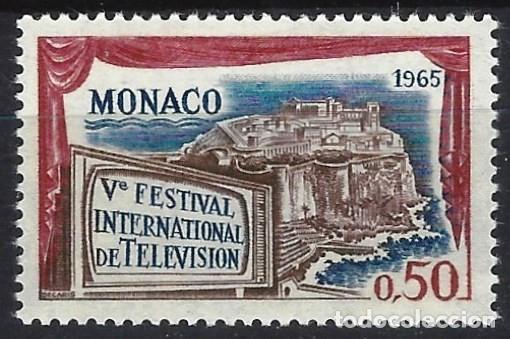 MÓNACO 1964 - 5º FESTIVAL INTERNACIONAL DE TELEVISIÓN, MONTE-CARLO - MH* (Sellos - Extranjero - Europa - Mónaco)