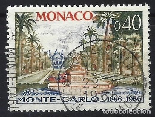MÓNACO 1966 - CENTENARIO DE MONTE-CARLO, MONUMENTO A CARLOS III - USADO (Sellos - Extranjero - Europa - Mónaco)
