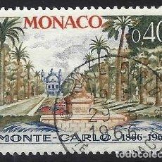 Timbres: MÓNACO 1966 - CENTENARIO DE MONTE-CARLO, MONUMENTO A CARLOS III - USADO. Lote 223324852
