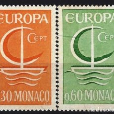 Selos: MÓNACO 1966 - EUROPA, S.COMPLETA - MNH**. Lote 223325253