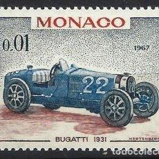 Sellos: MÓNACO 1967 - AUTOS DE CARRERAS, BUGATTI 1931 - MNH**. Lote 223326080