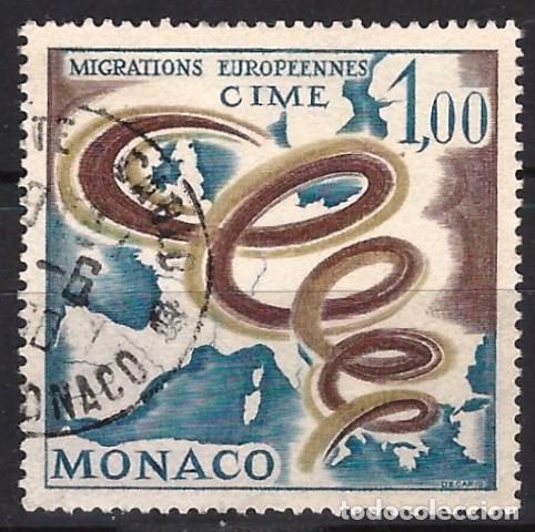 MÓNACO 1967 - COMITÉ EUROPEO DE MIGRACIONES - USADO (Sellos - Extranjero - Europa - Mónaco)