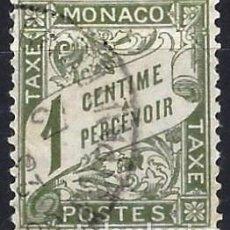 Francobolli: MÓNACO 1904 - SELLO DE FRANQUEO, NÚMERICO - USADO. Lote 223336723