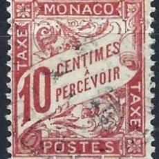 Francobolli: MÓNACO 1904 - SELLO DE FRANQUEO, NÚMERICO - USADO. Lote 223336961