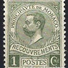 Timbres: MÓNACO 1911 - SELLO DE FRANQUEO, PRÍNCIPE ALBERTO I - MH*. Lote 223337205