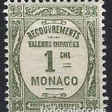 Francobolli: MÓNACO 1925-32 - SELLO DE FRANQUEO, NÚMERICO - MNH**. Lote 223337473