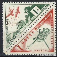 Sellos: MÓNACO 1953-54 - SELLO DE FRANQUEO DOBLE, TRANSPORTE - MNH**. Lote 223339867