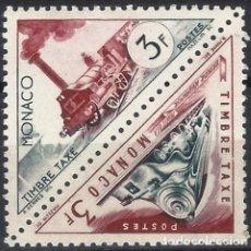 Sellos: MÓNACO 1953-54 - SELLO DE FRANQUEO DOBLE, TRANSPORTE - MNH**. Lote 223339981