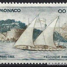 Sellos: MÓNACO 1960 - SELLO DE FRANQUEO, ENTREGA DE CORREO, FALUCA - MNH**. Lote 223340386