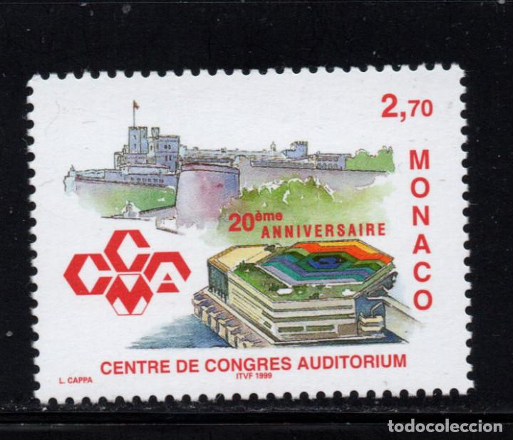 MONACO 2192** - AÑO 1999 - ARQUITECTURA - 20º ANIVERSARIO DEL CENTRO DE CONGRESOS AUDITORIUM (Sellos - Extranjero - Europa - Mónaco)