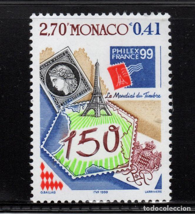 MONACO 2207** - AÑO 1999 - PHILEXFRANCE 99, EXPOSICION FILATELICA INTERNACIONAL, PARIS (Sellos - Extranjero - Europa - Mónaco)