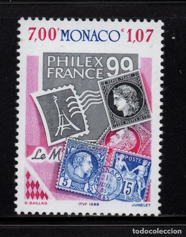 MONACO 2212** - AÑO 1999 - PHILEXFRANCE 99, EXPOSICION FILATELICA INTERNACIONAL, PARIS (Sellos - Extranjero - Europa - Mónaco)
