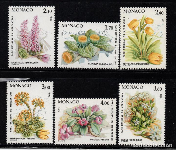 MÓNACO 1461/66** - AÑO 1985 - FLORA - FLORES Y PLANTAS DEL PARQUE NACIONAL DE MERCANTOUR (Sellos - Extranjero - Europa - Mónaco)