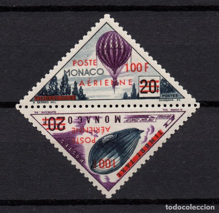 MONACO AEREO 61/62** - AÑO 1956 - AVIONES - GLOBOS Y DIRIGIBLES (Sellos - Extranjero - Europa - Mónaco)