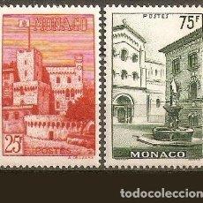 Sellos: MONACO YVERT NUM. 397/398 * SERIE COMPLETA CON FIJASELLOS. Lote 224590763