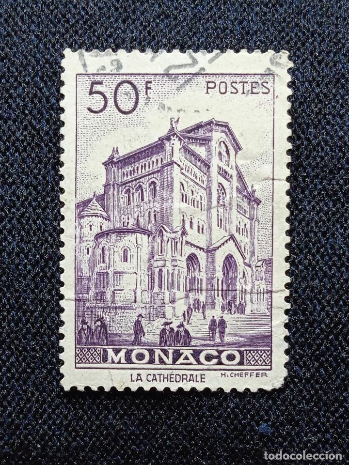MONACO, 50F, LA CATEDRALE, AÑO 1948, (Sellos - Extranjero - Europa - Mónaco)