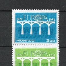 Sellos: MONACO 1984 EUROPA CEPT ** NUEVO - 2/48. Lote 227260665