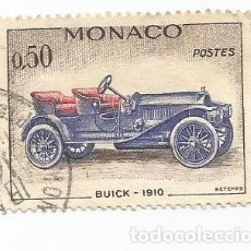 Timbres: SELLO USADO DE MONACO DEL AÑO 1961- BUICK 1910- YVERT 568- VALOR 0,50 FRANCOS. Lote 229091085