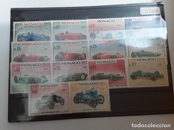 AÑO 1967 MÓNACO SERIE NUEVA COCHES (Sellos - Extranjero - Europa - Mónaco)
