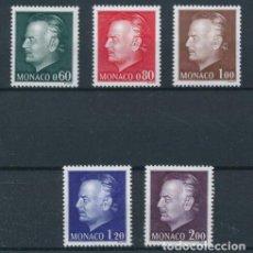 Sellos: MONACO 1974 IVERT 992/6 *** PRINCIPE RAINIERO III - MONARQUIA - PERSONAJES. Lote 233070585