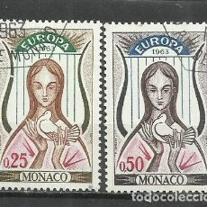 Sellos: 9372C-SELLOS SERIE COMPLETA MONACO 1963 EUROPA Nº618/9.BONITOS. Lote 234941100