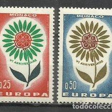 Sellos: 9372E-SELLOS SERIE COMPLETA MONACO 1964 EUROPA Nº 652/3.BONITOS ENVIOS COMBINADOS SI,SOLO PAGA UN. Lote 234944500